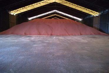 Galpão de lona para fertilizantes